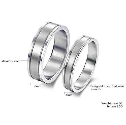 Пръстен СИГУРНОСТ, халка от стомана. Размери 5, 6, 7, 8, 9 и 10, код 316L R107