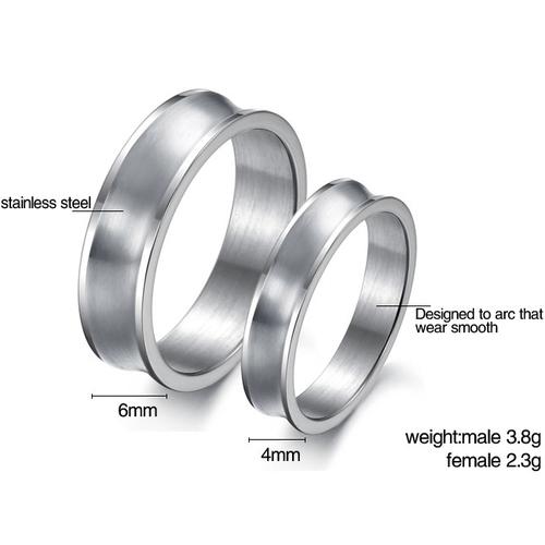 Пръстен ПРЕГРЪДКА, халка от стомана. Размери 5, 6, 7, 8, 9 и 10, код 316L R102