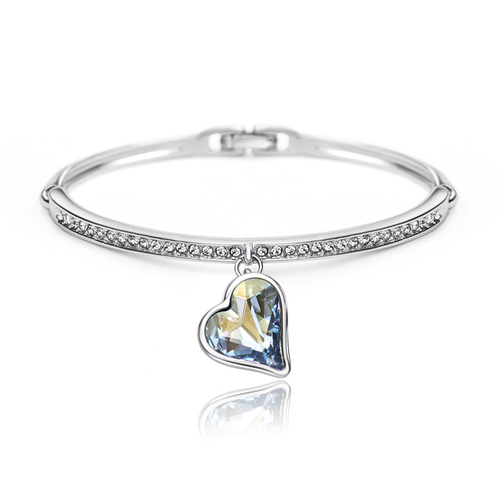 Луксозна Гривна HEART IN LOVE, ZYRDA Swarovski Elements, Код ZD B002
