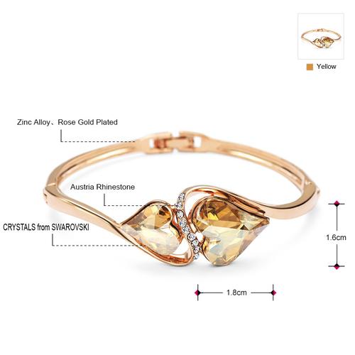 Гривна NATURAL HEART, ZYRDA Crystals from SWAROVSKI®, Код ZD B010