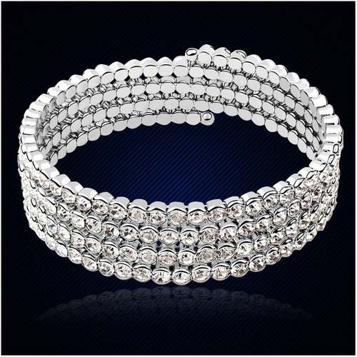 Oбеци и гривна DIAMOND FLASH, Бижута ZYRDA Crystals from SWAROVSKI®, Код ZD S015