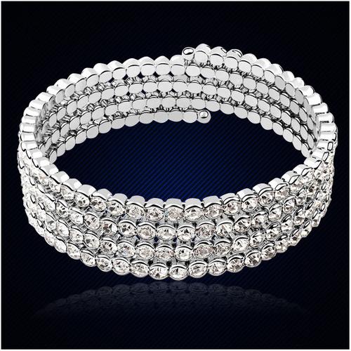 Oбеци, гривна и пръстен DIAMOND FLASH, Бижута ZYRDA Crystals from SWAROVSKI®, Код ZD S015А