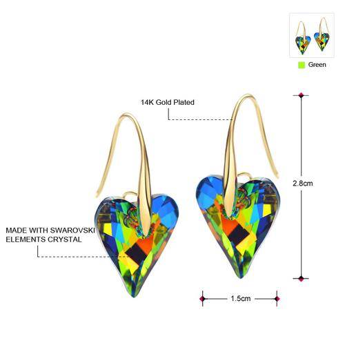 Луксозни Обеци COLOUR MY HEART, ZYRDA Swarovski Elements, Код ZD E001