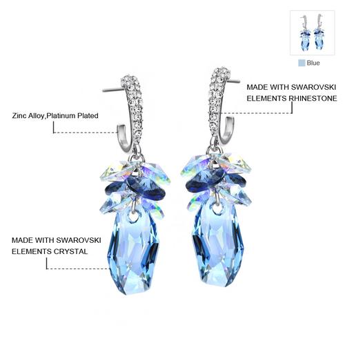 Луксозни Обеци DAZZLE ME, ZYRDA Swarovski Elements, Код ZD E004