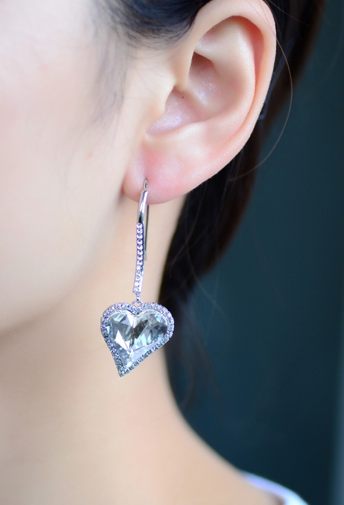 Луксозни Обеци HEART IN LOVE, ZYRDA Swarovski Elements, Код ZD E008-A