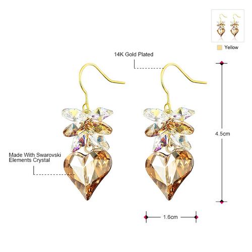 Елегантни Обеци NATURAL HEART, ZYRDA Swarovski Elements, Код ZD E013