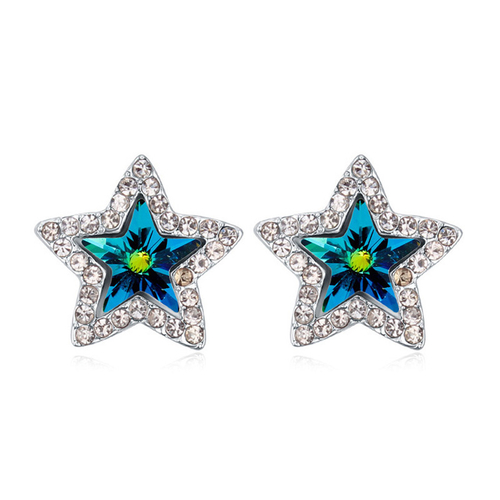 Обеци COLOUR STAR, ZYRDA Crystals from SWAROVSKI®, Код ZD E022