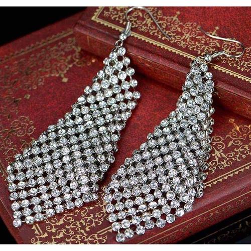 Обеци DIAMOND FLASH, ZYRDA Crystals from SWAROVSKI®, Код ZD E023