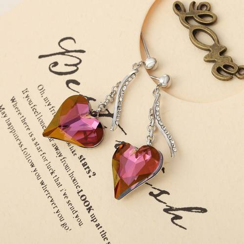 Колие и обеци PURPLE HEART NEW, Бижута ZYRDA Crystals from SWAROVSKI®, Код ZD S017