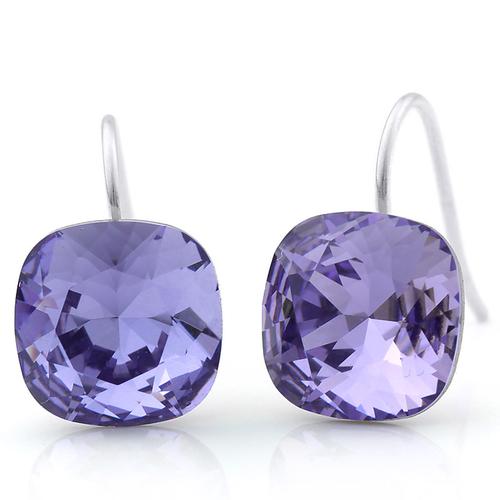 Обеци SHINE IN PURPLE, ZYRDA Crystals from SWAROVSKI®, Код ZD E032A