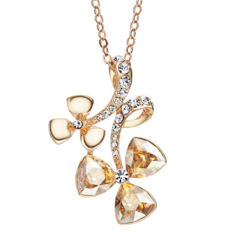 Колие и пръстен CRYSTAL FLOWER, Бижута ZYRDA Crystals from SWAROVSKI®, Код ZD S007