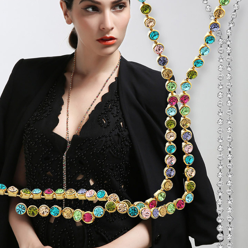 Луксозно Колие STRING OF COLOURS, ZYRDA Swarovski Elements, Код ZD N005