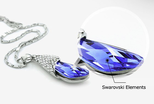 Луксозно Колие PURPLE BEUTY, ZYRDA Swarovski Elements, Код ZD N016
