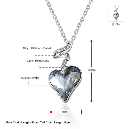 Красиво Колие HEART IN LOVE, ZYRDA Swarovski Elements, Код ZD N017-A
