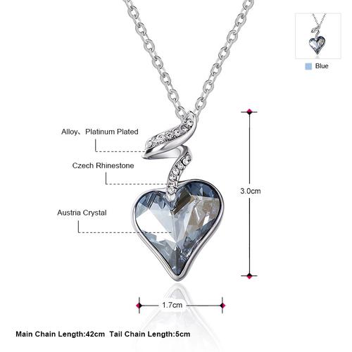 Красиво Колие HEART IN LOVE, ZYRDA Swarovski Elements, Код ZD N017-A