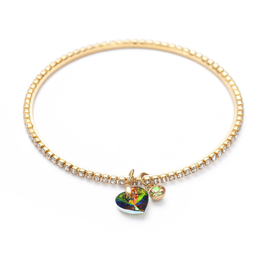 Красивa Гривна COLOUR MY HEART, ZYRDA Swarovski Elements, Код ZD B004
