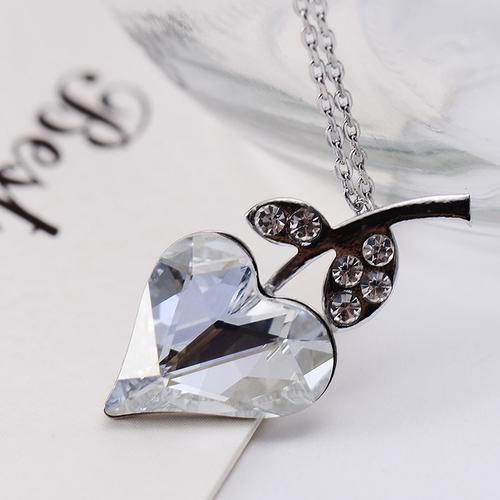 Колие HEART IN LOVE, ZYRDA Crystals from SWAROVSKI®, Код ZD N028