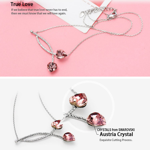 Колие TRUE PINK LOVE, ZYRDA Crystals from SWAROVSKI®, Код ZD N038