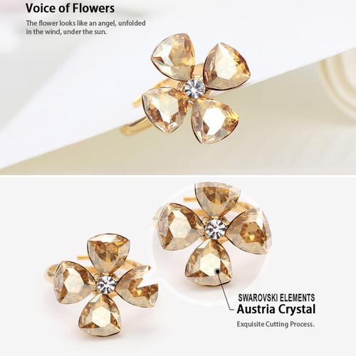 Колие и пръстен CRYSTAL FLOWER, Бижута ZYRDA Crystals from SWAROVSKI®, Код ZD S007
