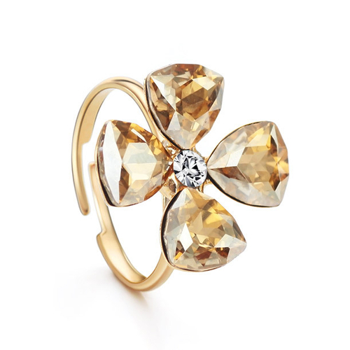Елегантен Пръстен CRYSTAL FLOWER, ZYRDA Swarovski Elements, Код ZD R003