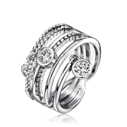Пръстен DIAMOND FLASH, ZYRDA Crystals from SWAROVSKI®, Код ZD R008