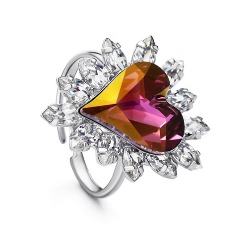 Пръстен PURPLE HEART NEW, ZYRDA Crystals from SWAROVSKI®, Код ZD R009
