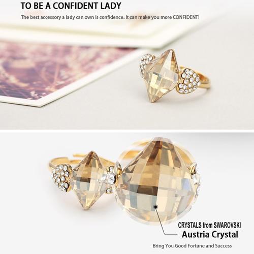 Пръстен NATURAL STONE, ZYRDA Crystals from SWAROVSKI®, Код ZD R010