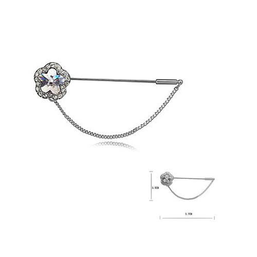 Луксозна Брошка с Форма на Цвете, Сваровски Елементи, ZG M002