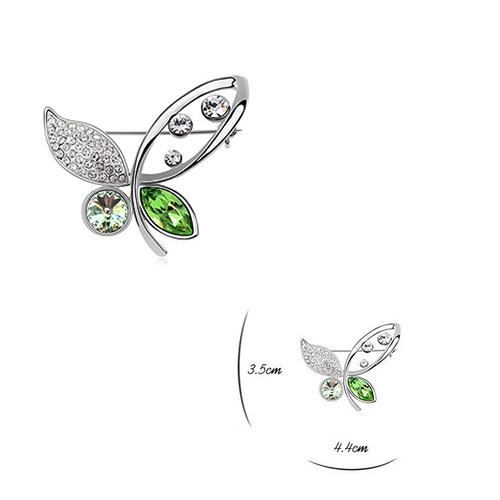 Луксозна Брошка с Форма на Пеперуда, Сваровски Елементи, ZG M004