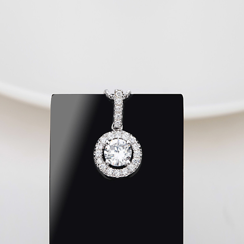 Колие КАТЕРИНЕ, колекция Zerga, 18K бяло златно покритие и Сваровски кристали, ZG N004