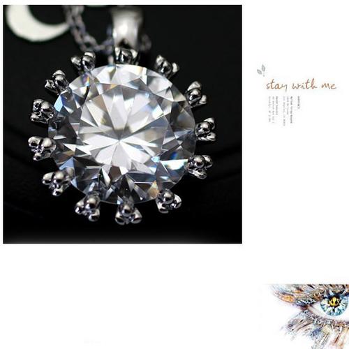 Колие КРИСТА със Сваровски Кристали и 18К Бяло Злато, Колекция Zerga Brand ZG N018