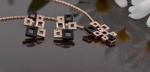 ZG S012 Бижута ПИКАСО Swarovski Elements, колие и обеци от колекция Zerga Jewelry