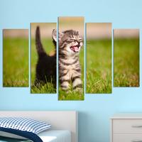 Декоративни панели за стена с малко игриво котенце