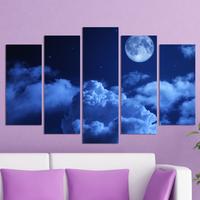 Декоративни панели за стена Vivid Home с небесна рапсодия в тъмносиня гама