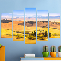 Декоративни панели за стена с пасторален летен пейзаж