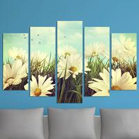 Декоративни панели за стена с флорална импресия в бяло