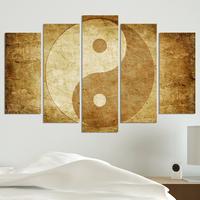 Декоративни панели за стена с абстракция в бежово-кафява гама
