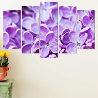 Декоративни панели за стена с флорален дизайн в лилава гама