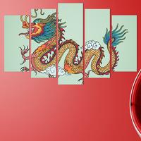Декоративни панели за стена Vivid Home с изображение на приказен змей