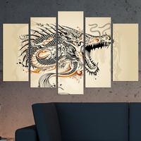 Декоративни панели за стена с графично изображение на дракон