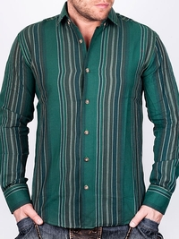 Тъмнозелена раирана риза NGR