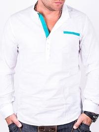Бяла мъжка риза Two Bucks
