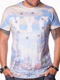Бяла мъжка тениска Brookhaven NYC