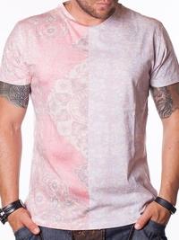 Мъжка бяла тениска Red & White