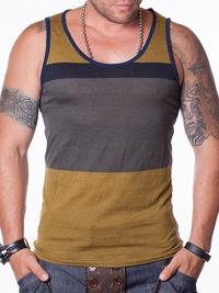 Мъжки потник COLORS STRIPS - зелен нюанс