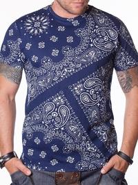 Мъжка тениска Ornaments - синя