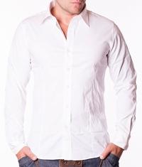 Мъжка риза To You бяла