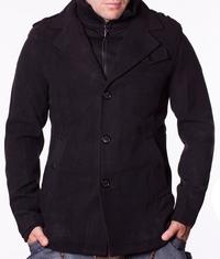 Мъжко спортно-елегантно палто Sirrion черно