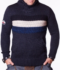 Мъжки пуловер Goods тъмносин