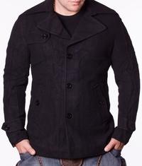 Мъжко спортно-елегантно палто Karolin Black